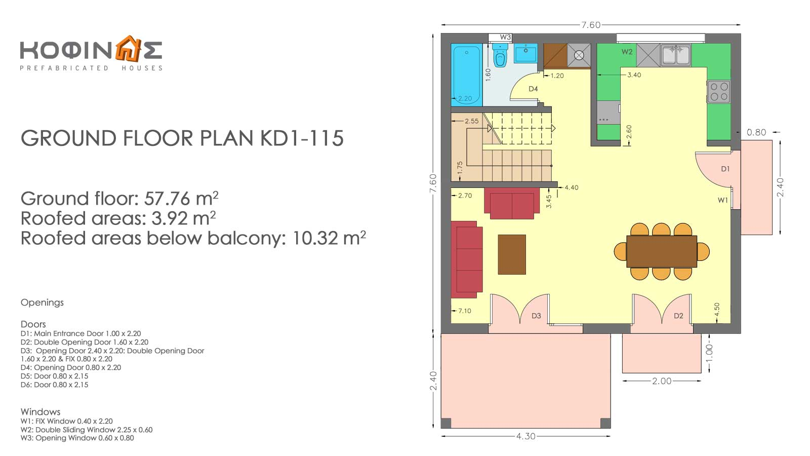 Two story house, KD1-115 (115,52 m²) – Price: 117.750€