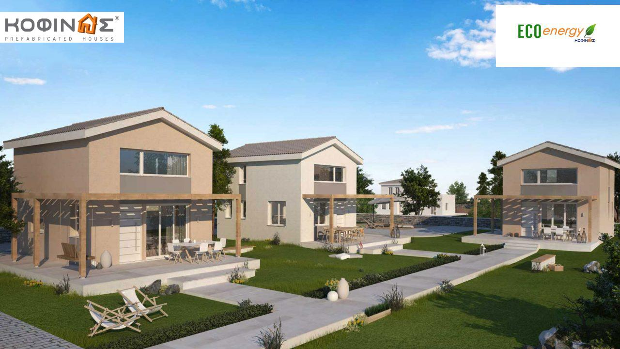1-story house with attic IS-63, total surface of 63,65 τ.μ. ,roofed areas 17,58 m²1