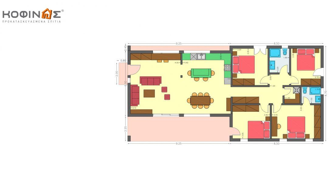 Ισόγεια Κατοικία I-129, συνολικής επιφάνειας 129,45 τ.μ.