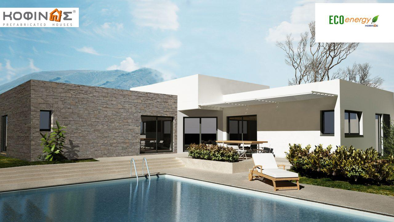 1-story house I-101, total surface of 101,50 m², roofed areas 17,31 m² featured image