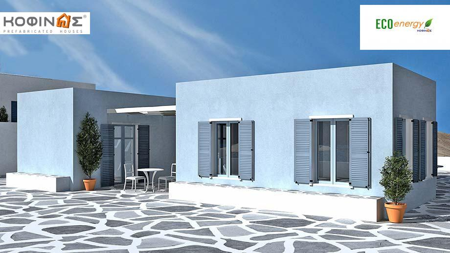 1-story house I-93, total surface of 93,20 m², roofed areas 13,80 m² featured image