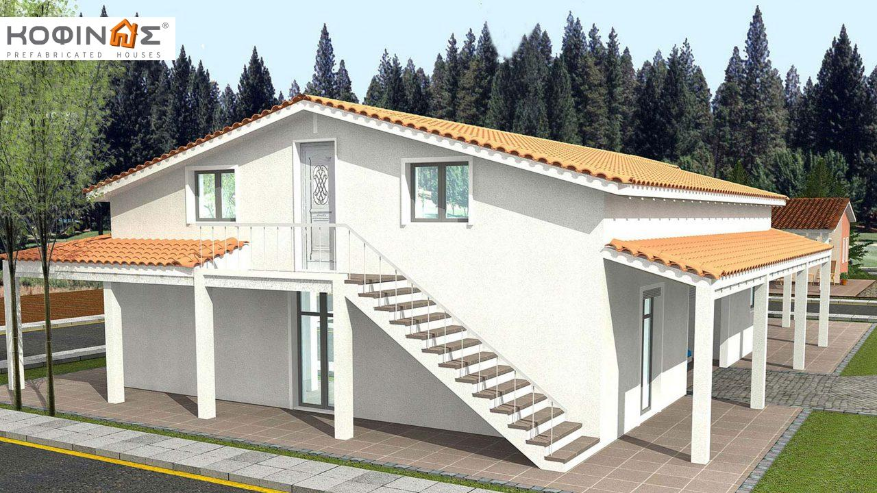 1-story house with attic IS-234, total surface of 234,80 m², +Garage 28.00 m²(=262,80 m²),roofed areas 105,00 m²0