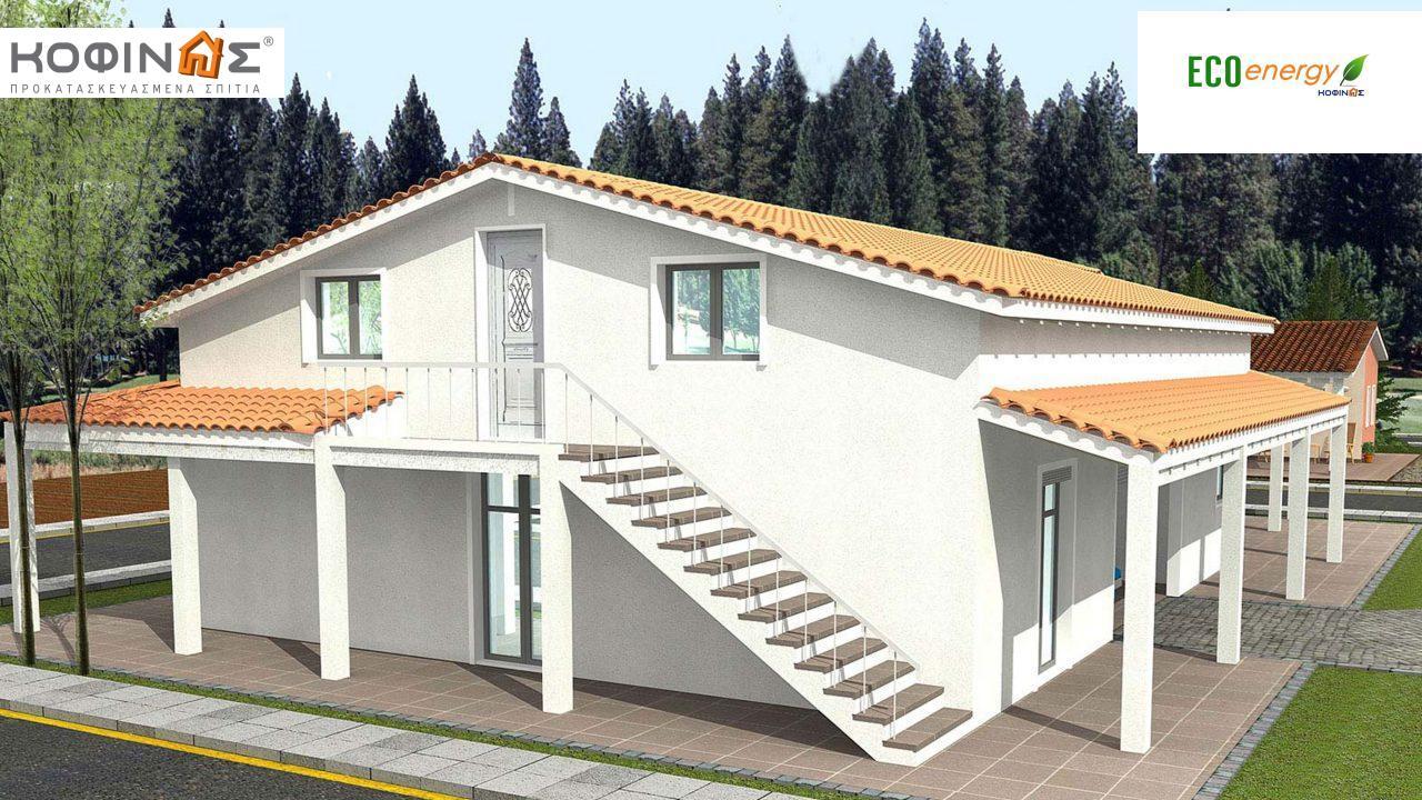 Ισόγεια Κατοικία με Σοφίτα IS-234,συνολικής επιφάνειας 234,80τ.μ., +Γκαράζ 28.00 m²(=262,80 m²),συνολική επιφάνεια στεγασμένων χώρων 105,00 τ.μ.0