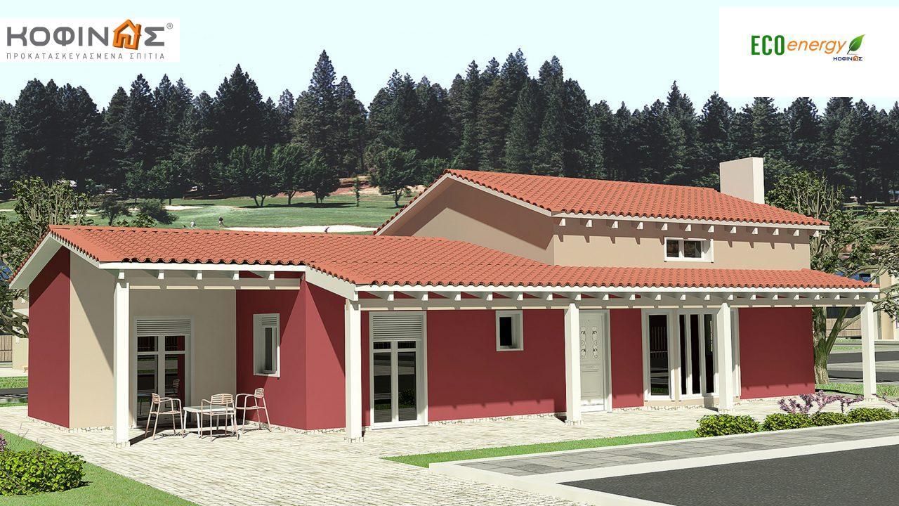 Ισόγεια Κατοικία με Σοφίτα IS-146, συνολικής επιφάνειας 146,60 τ.μ., συνολική επιφάνεια στεγασμένων χώρων 61,60 τ.μ. featured image