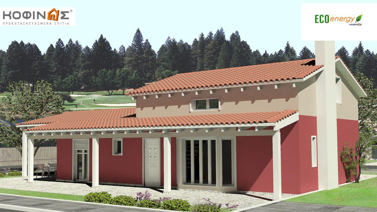 Ισόγεια Κατοικία με Σοφίτα IS-146, συνολικής επιφάνειας 146,60 τ.μ., συνολική επιφάνεια στεγασμένων χώρων 61,60 τ.μ.2