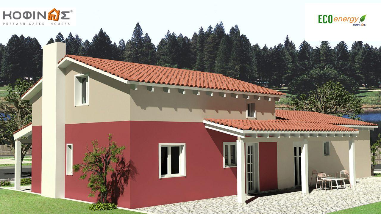 1-story house with attic IS-146, total surface of 146,60 m², roofed areas 61,60 m²1
