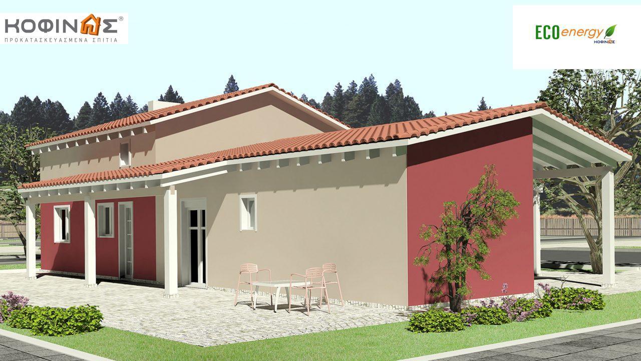 Ισόγεια Κατοικία με Σοφίτα IS-146, συνολικής επιφάνειας 146,60 τ.μ., συνολική επιφάνεια στεγασμένων χώρων 61,60 τ.μ.1