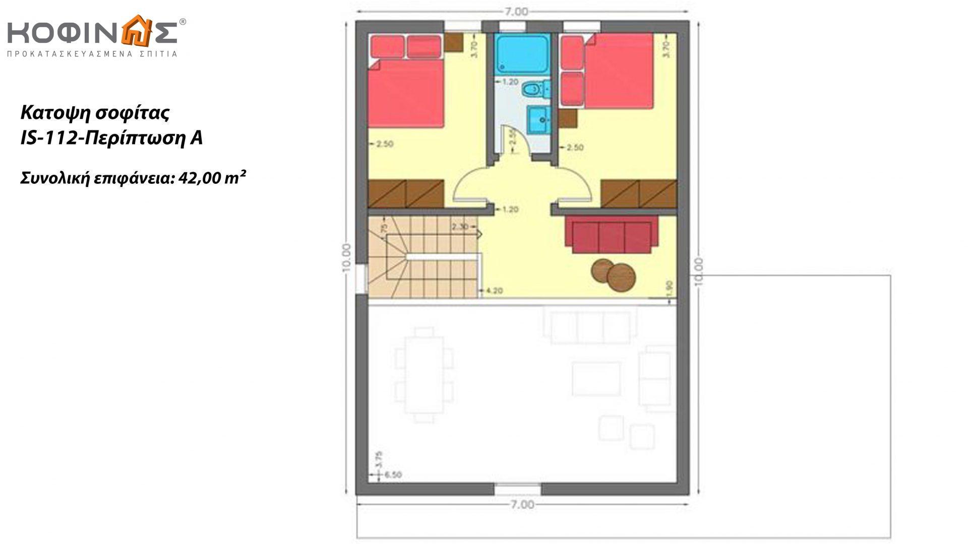 Ισόγεια Κατοικία με Σοφίτα IS-112, συνολικής επιφάνειας 112,00 τ.μ.