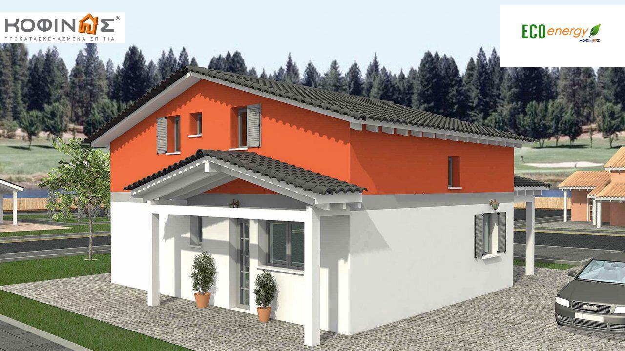 Ισόγεια Κατοικία με Σοφίτα IS-116, συνολικής επιφάνειας 116,90 τ.μ. ,συνολική επιφάνεια στεγασμένων χώρων 26,70 τ.μ.0
