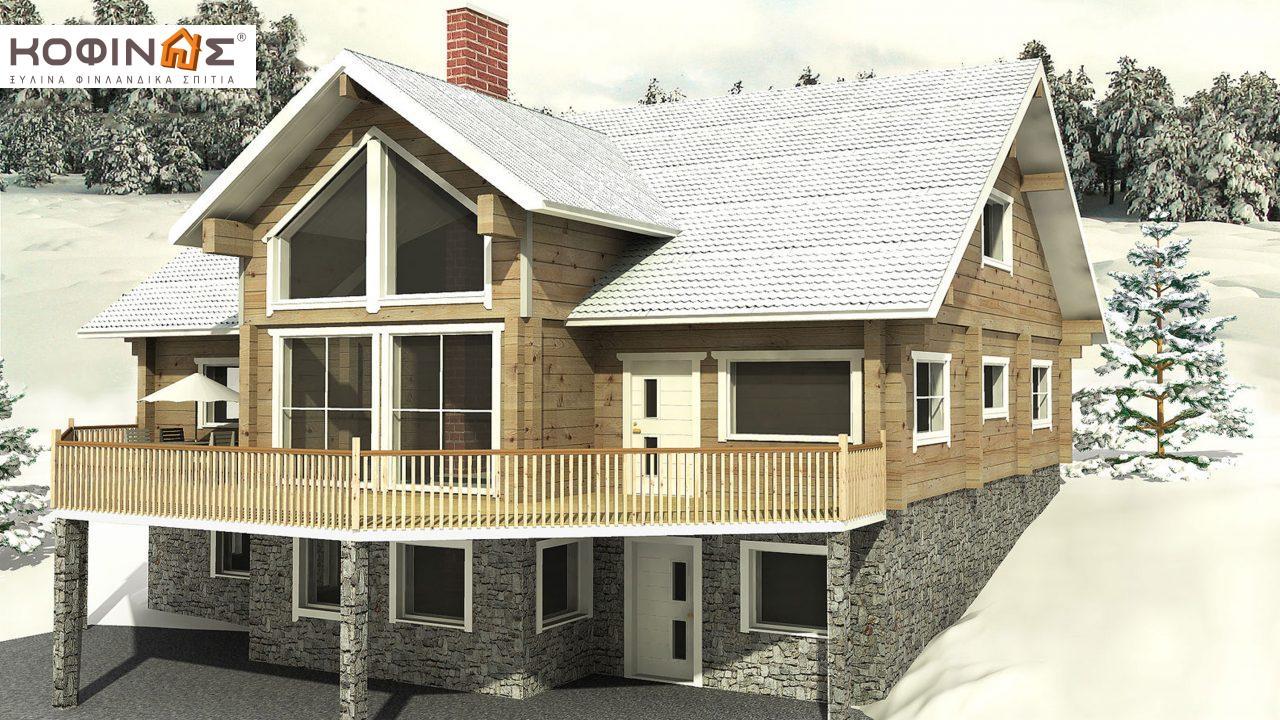 Ισόγεια Ξύλινη Κατοικία με σοφίτα XIS-270, συνολικής επιφάνειας 270,20 τ.μ. featured image