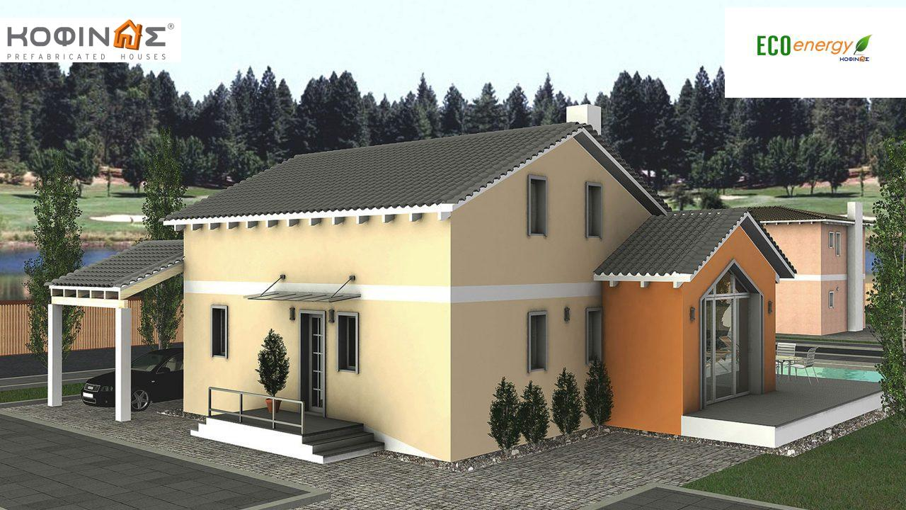 1-story house with attic IS-139, total surface of 139,70 m²,roofed areas 21,25 m²0