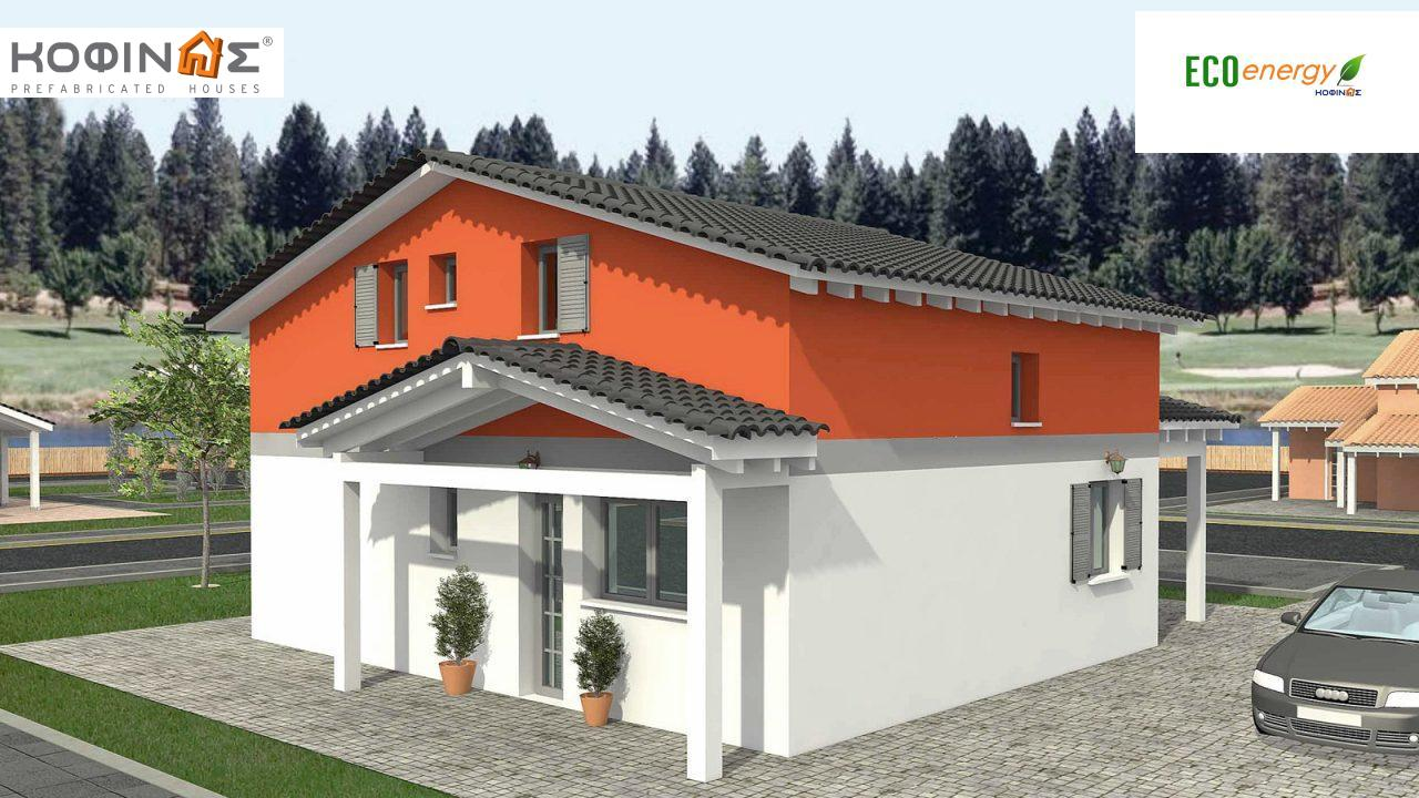 1-story house with attic IS-116, total surface of 116,90 m² ,roofed areas 26,70 m² featured image