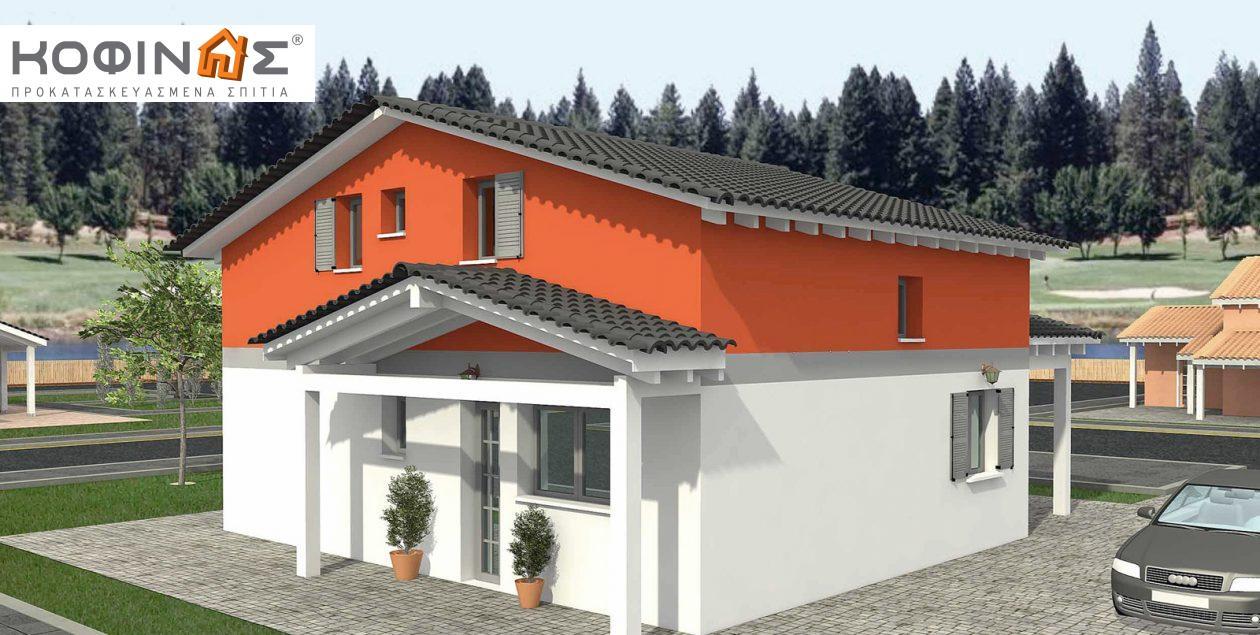 Ισόγεια Κατοικία με Σοφίτα IS-116, συνολικής επιφάνειας 116,90 τ.μ.0