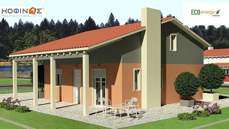 Ισόγεια Κατοικία με Σοφίτα IS-99, συνολικής επιφάνειας 99,10 τ.μ. ,συνολική επιφάνεια στεγασμένων χώρων 20,60 τ.μ. featured image