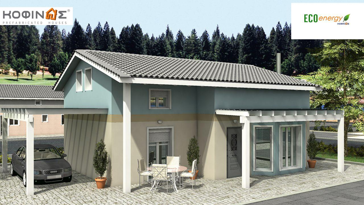 1-story house with attic IS-118, total surface of 118,20 m² ,roofed areas 21,90 m² featured image
