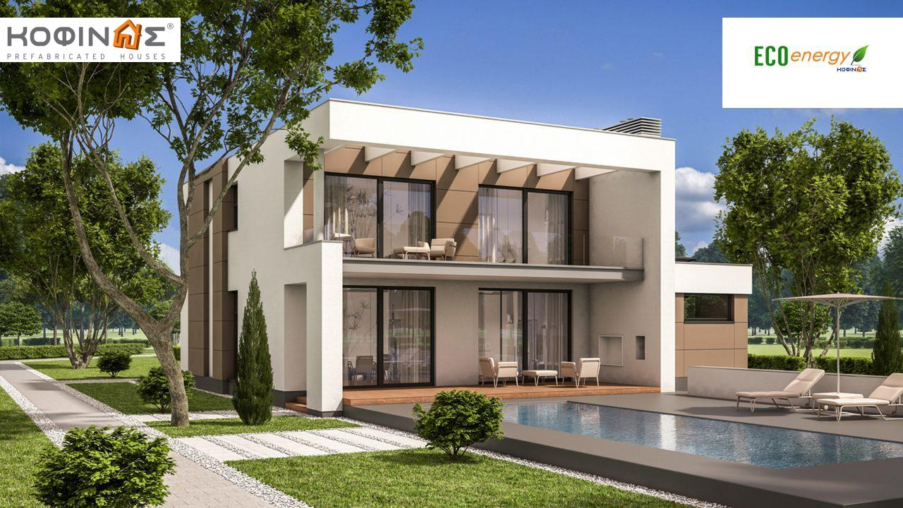 2-story house D-129, total surface of 129,50 m², +Garage 20.77 m²(=150.27 m²),roofed areas 40.70 m²,balconies 11.10 m² featured image
