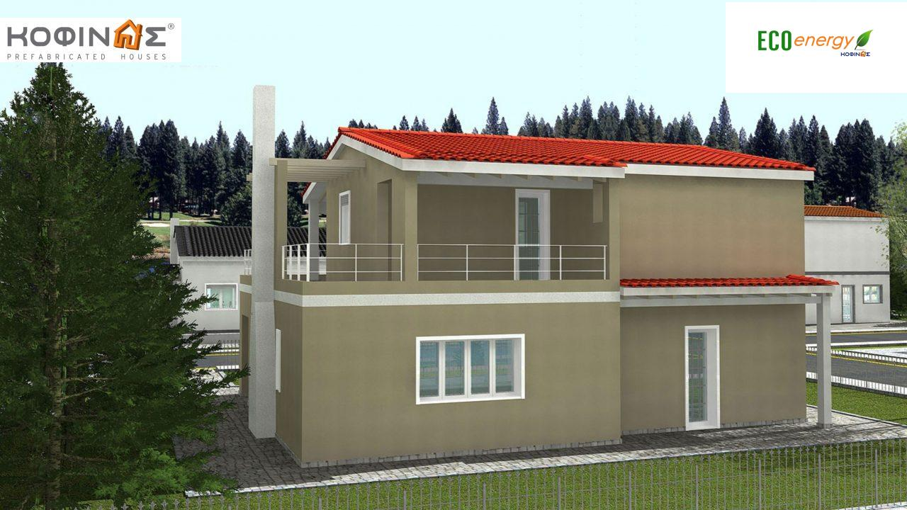 2-story house D-131a, total surface of 131,50 m²,roofed areas 76.70 m²,balconies 36.88 m²0