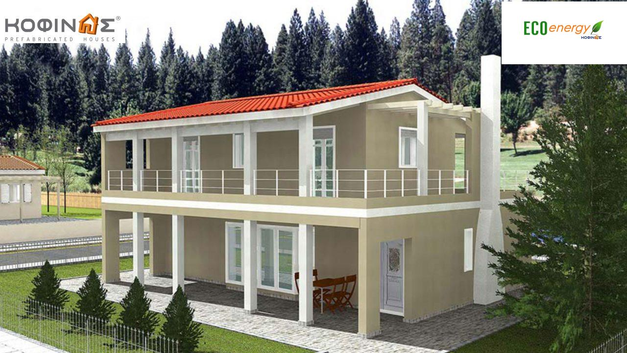 2-story house D-131a, total surface of 131,50 m²,roofed areas 76.70 m²,balconies 36.88 m² featured image