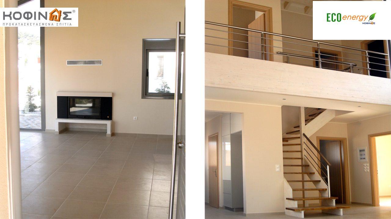 Διώροφη Κατοικία D-111, συνολικής επιφάνειας 111,80 τ.μ. , συνολική επιφάνεια στεγασμένων χώρων 11.94 τ.μ., μπαλκόνια 7.36 τ.μ.0