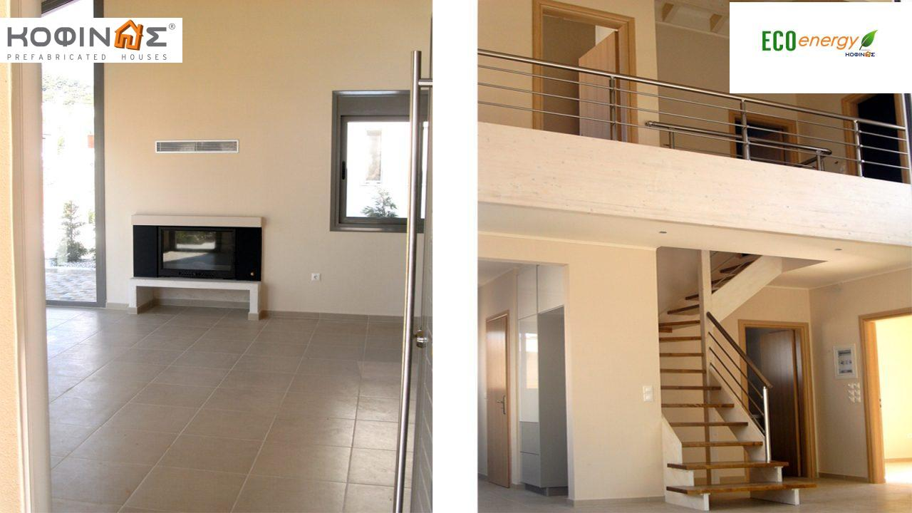 2-story house D-111, total surface of 111,80 m²,roofed areas 11,94 m²,balconies 7,36 m²0