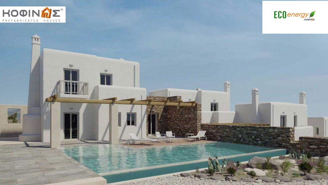 2-story house D-82, total surface of 82,30 m²,roofed areas 2,00 m²,balconies 22,70 m²0