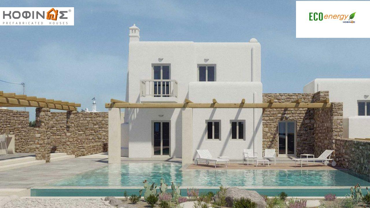 2-story house D-82, total surface of 82,30 m²,roofed areas 2,00 m²,balconies 22,70 m² featured image