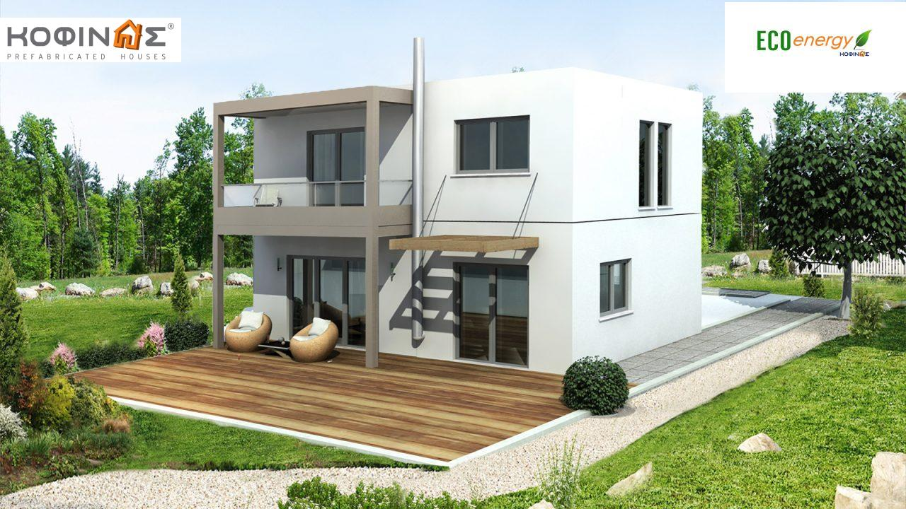 2-story house D-131, total surface of 131,10 m²,roofed areas 20.94 m²,balconies 6.40 m² featured image
