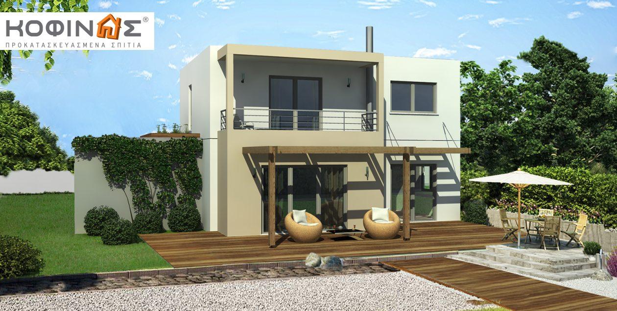 Διώροφη Κατοικία D-140, συνολικής επιφάνειας 140,20 τ.μ. featured image