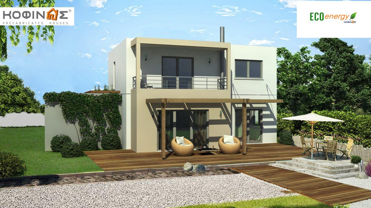 2-story house D-140, total surface of 140,20 m², +Garage 28.00 m²(=168.20 m²),roofed areas 33.00 m²,balconies 8.20 m² featured image