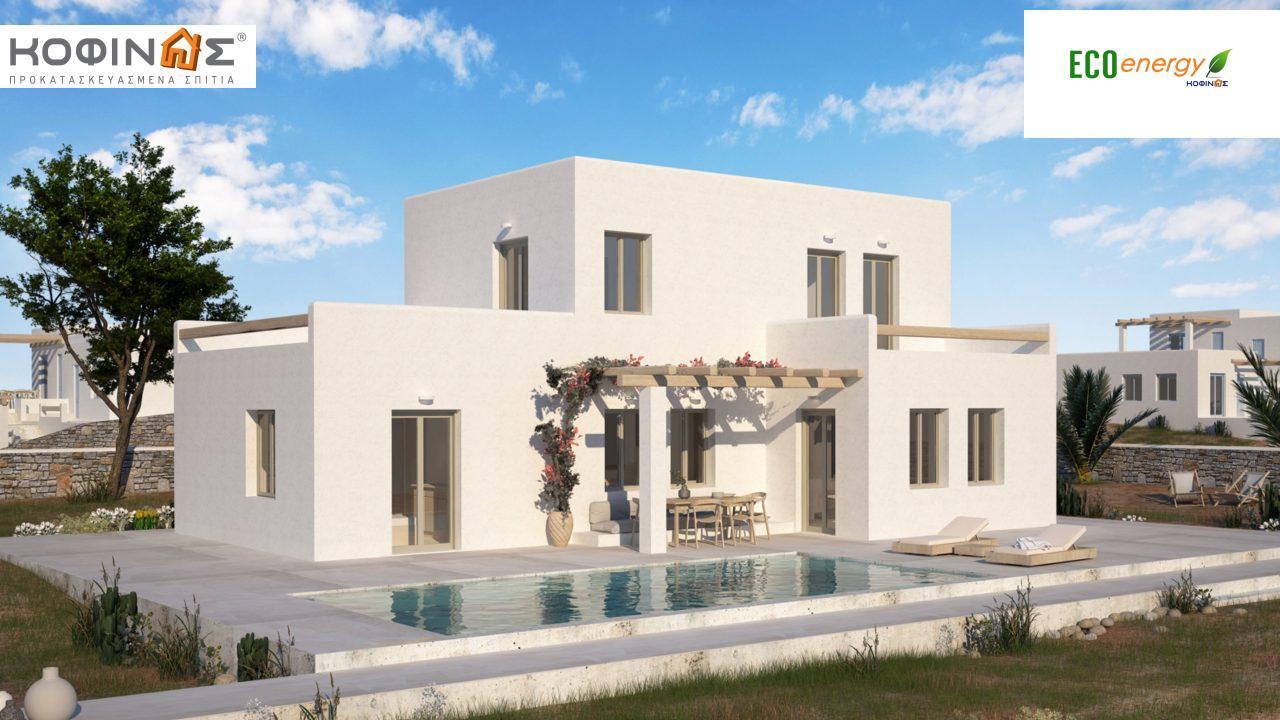 Διώροφη Κατοικία D-152, συνολικής επιφάνειας 152,15 τ.μ., συνολική επιφάνεια στεγασμένων χώρων 12.22 τ.μ., μπαλκόνια 40.83 τ.μ. featured image