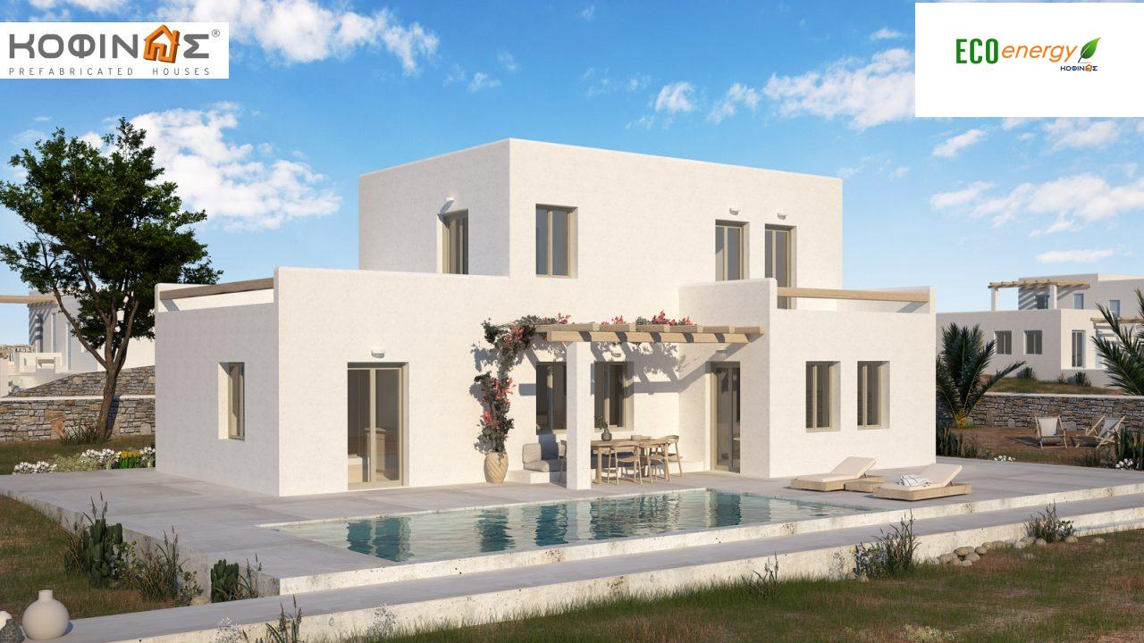 2-story house D-152, total surface of 152,15 m²,roofed areas 12.22 m²,balconies 40.83 m² featured image