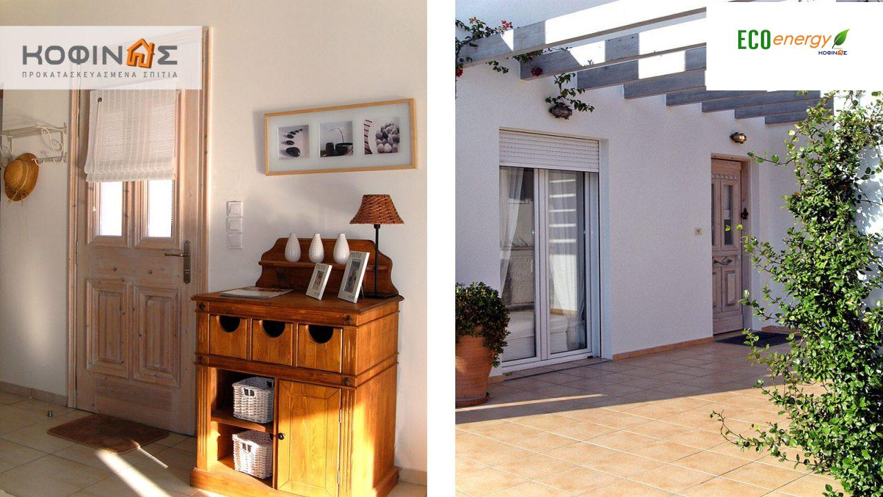 2-story house D-110b, total surface of 110,72 m²,roofed areas 42,57 m²,balconies 23,27 m²0