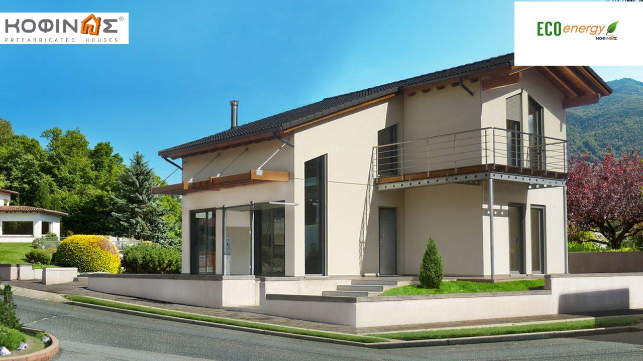 2-story house D-111, total surface of 111,80 m²,roofed areas 11,94 m²,balconies 7,36 m² featured image