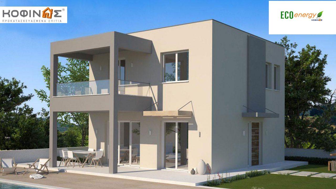 Διώροφη Κατοικία KD1-115, συνολικής επιφάνειας 115,52 τ.μ., συνολική επιφάνεια στεγασμένων χώρων 24,56 τ.μ., μπαλκόνια 10,32 τ.μ. featured image