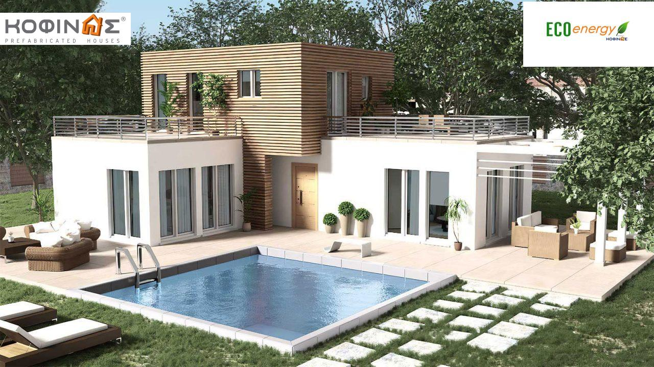 2-story house D-120, total surface of 120,20 m²,roofed areas 18,00 m²,balconies 42,16 m²0