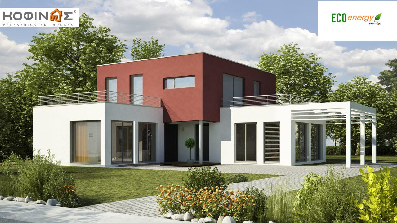2-story house D-122, total surface of 122,60 m²,roofed areas 18,65 m²,balconies 42,16 m² featured image