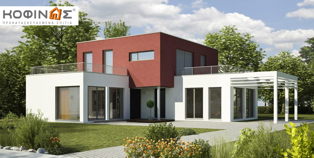 Διώροφη Κατοικία D-122, συνολικής επιφάνειας 122,60 τ.μ. , συνολική επιφάνεια στεγασμένων χώρων 18.65 τ.μ., μπαλκόνια 42.16 τ.μ. featured image