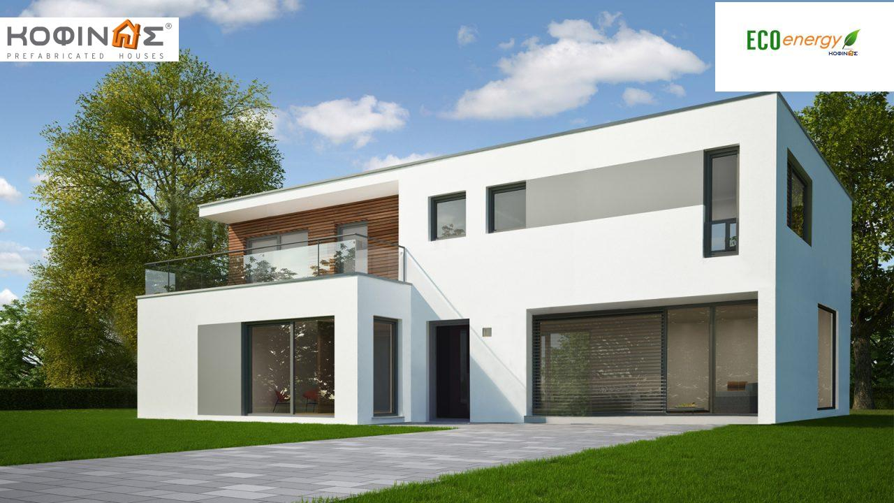 2-story house D-123, total surface of 123,30 m² ,roofed areas 11,42 m²,balconies 6,07 m² featured image