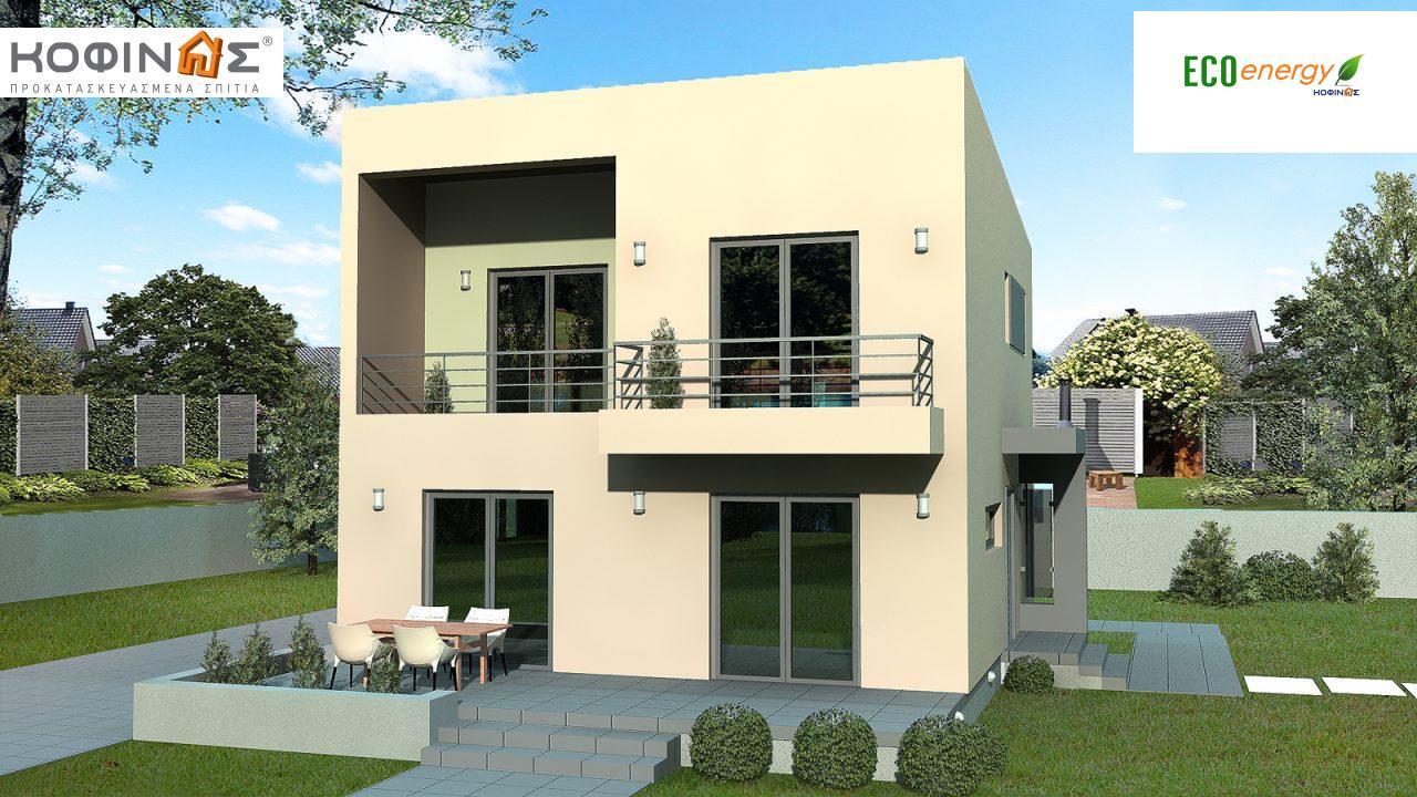 Διώροφη Κατοικία D-127, συνολικής επιφάνειας 127,00 τ.μ. , συνολική επιφάνεια στεγασμένων χώρων 12.86 τ.μ., μπαλκόνια 6.75 τ.μ. featured image