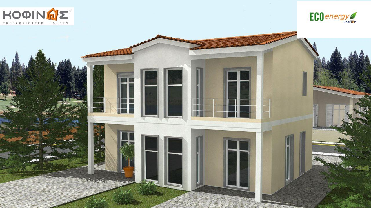 2-story house D-128, total surface of 128,40 m²,roofed areas 16.48 m²,balconies 7.44 m² featured image