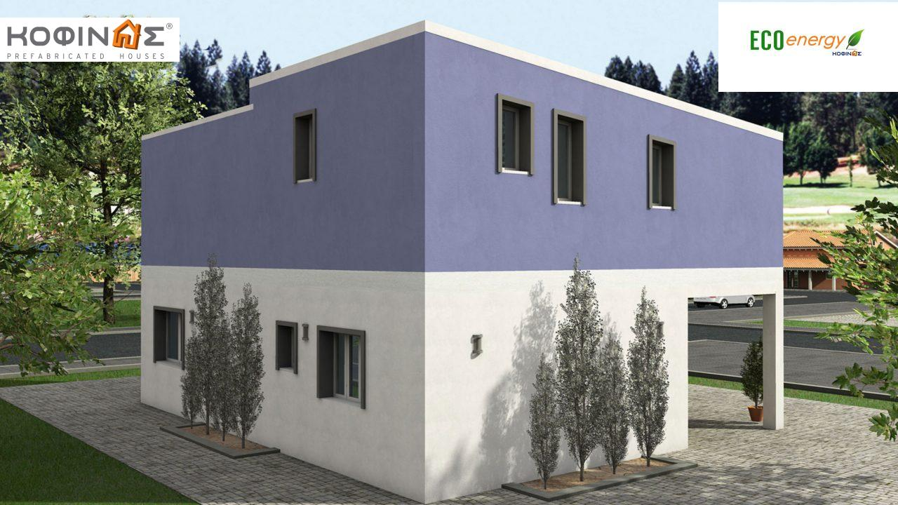 2-story house D-128a, total surface of 128,60 m²,roofed areas 14.37 m²,balconies 25.75 m²0