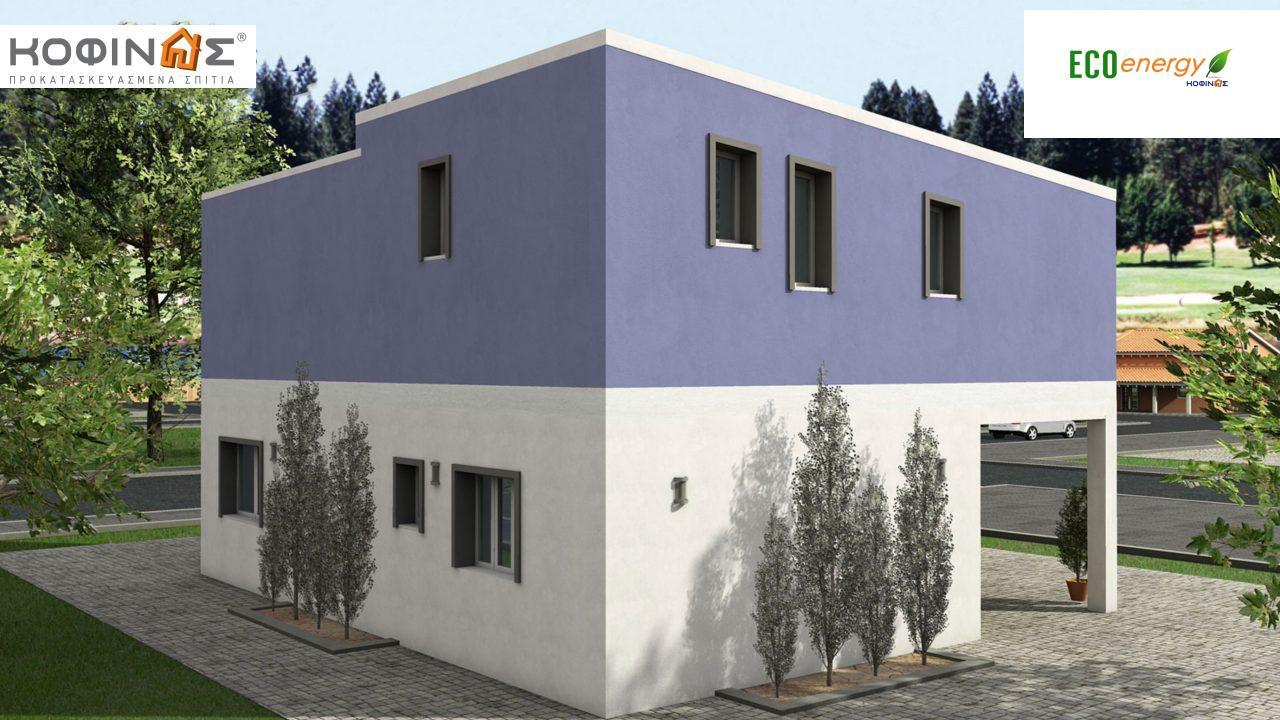 Διώροφη Κατοικία D-128a, συνολικής επιφάνειας 128,60 τ.μ., συνολική επιφάνεια στεγασμένων χώρων 14.37 τ.μ., μπαλκόνια 25.75 τ.μ.0