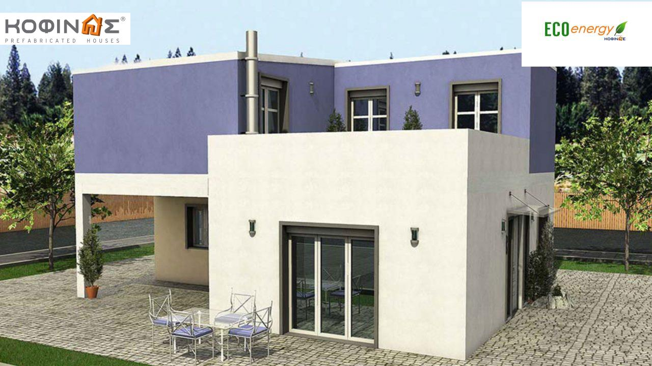 2-story house D-128a, total surface of 128,60 m²,roofed areas 14.37 m²,balconies 25.75 m² featured image