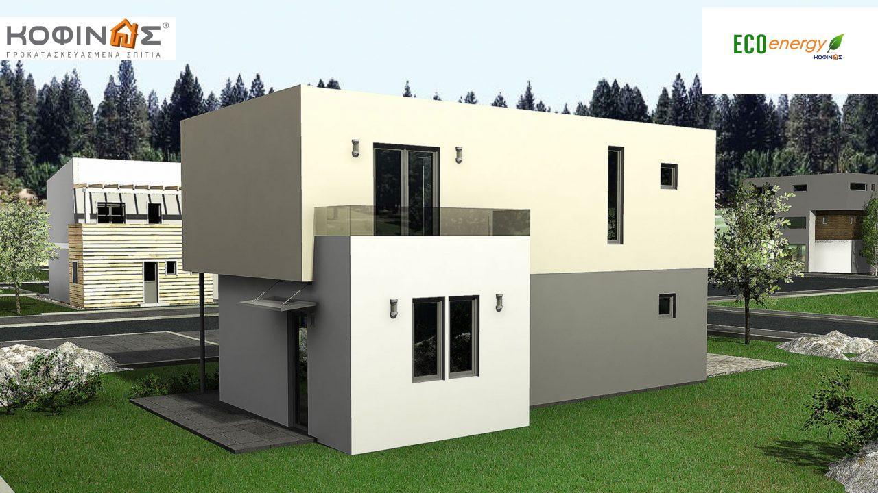 Διώροφη Κατοικία D-135, συνολικής επιφάνειας 135,20 τ.μ., συνολική επιφάνεια στεγασμένων χώρων 17.60 τ.μ., μπαλκόνια 12.41 τ.μ.0