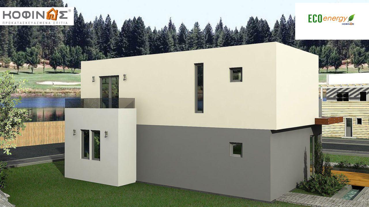 Διώροφη Κατοικία D-135, συνολικής επιφάνειας 135,20 τ.μ., συνολική επιφάνεια στεγασμένων χώρων 17.60 τ.μ., μπαλκόνια 12.41 τ.μ.2
