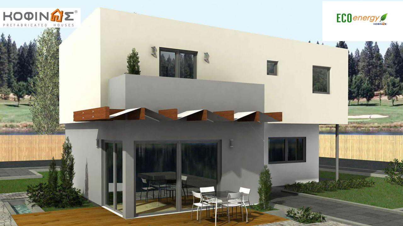 2-story house D-135, total surface of 135,20 m²,roofed areas 17.60 m²,balconies 12.41 m²2