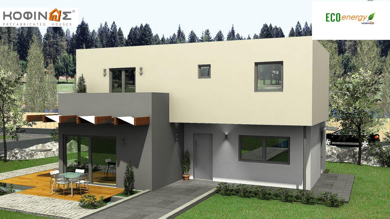 2-story house D-135, total surface of 135,20 m²,roofed areas 17.60 m²,balconies 12.41 m² featured image