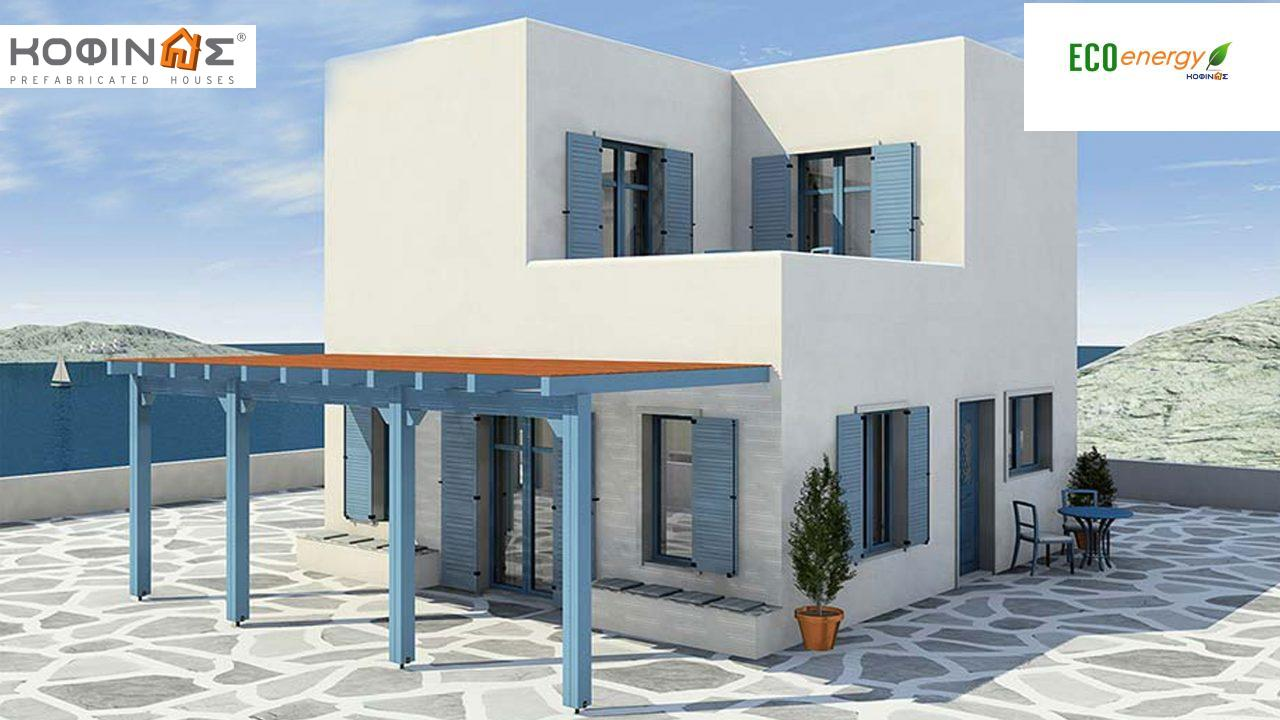 2-story house D-84, total surface of 84,70 m² ,roofed areas 18.90 m²,balconies 13.32 m² featured image