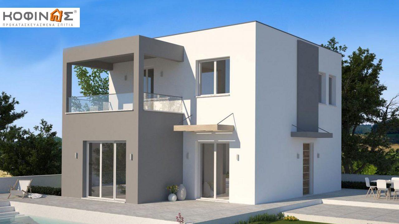 Διώροφη Κατοικία KD1-125, συνολικής επιφάνειας 125,84 τ.μ. , συνολική επιφάνεια στεγασμένων χώρων 14.37 τ.μ., μπαλκόνια 25.75 τ.μ. featured image