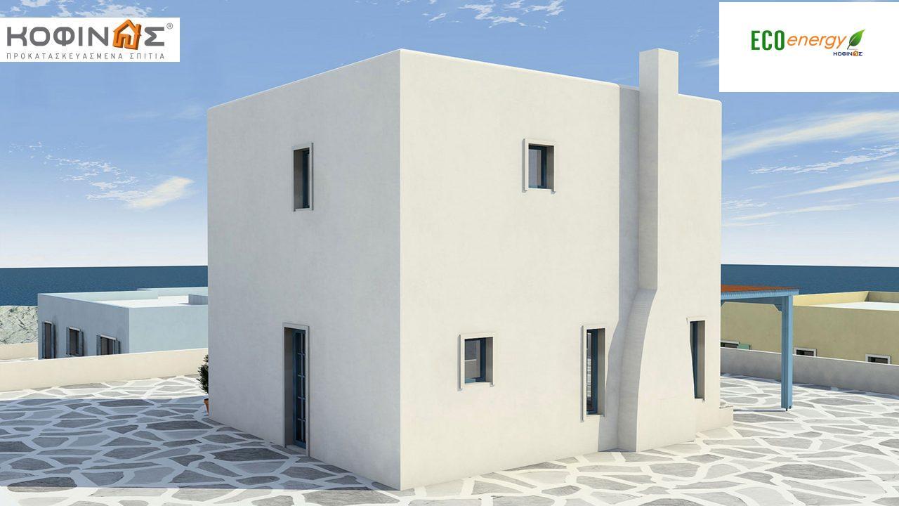 Διώροφη Κατοικία D-84, συνολικής επιφάνειας 84,70 τ.μ. , συνολική επιφάνεια στεγασμένων χώρων 18.90 τ.μ., μπαλκόνια 13.32 τ.μ.0